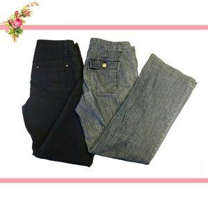 💚 X2 Ann Taylor Loft Wide Leg Trouser Pants 4